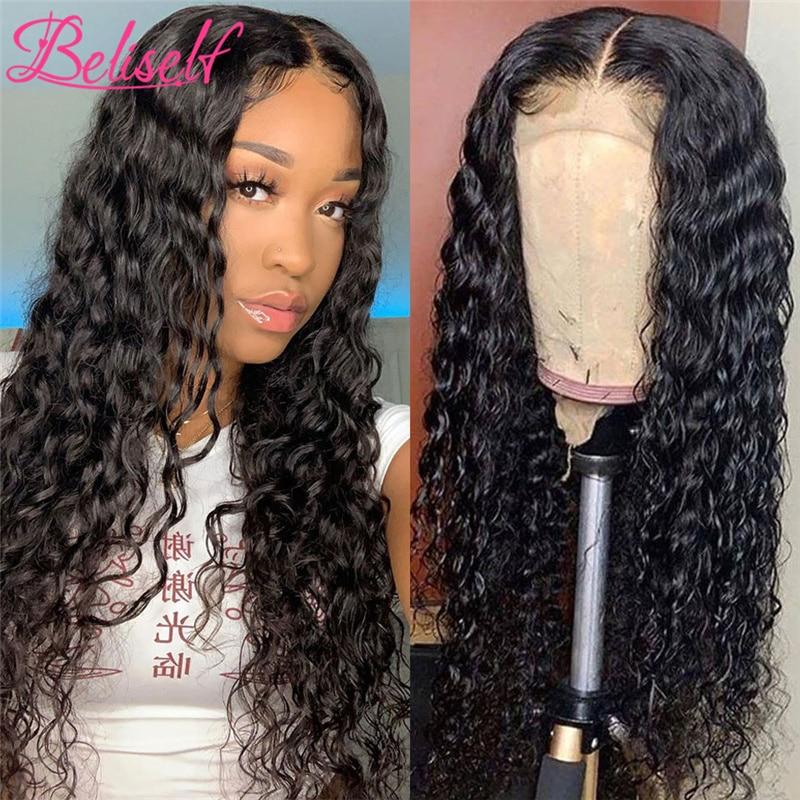 Бразильский кудрявый передний парик на сетке, фронтальный парик с глубокой волной, парик с кудрявой застежкой для женщин, парики из человеч...