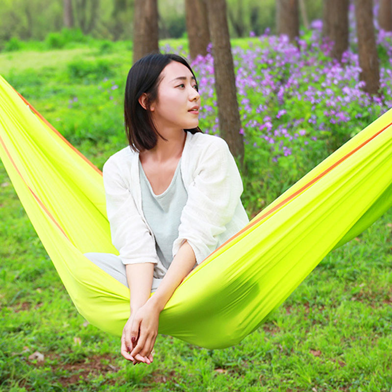 Hammock Outdoor Double Camping Hamaca Swing Hamak Adult Climbing Leisure Hamac Polyester Fiber Amaca Hanging Chair Furniture