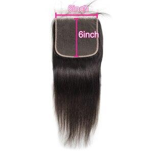 Image 5 - ברזילאי שיער טבעי סגירת תחרה ישר 5x5 6x6 2x6 4x4 פרונטאלית סגירת PrePlucked טבעי קצר ארוך רמי עבור נשים שחורות