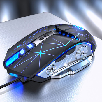 Hongsund Silent/Sound Wired Gaming Mouse Gamer 7 Buttons 3200DPI USB LED Optical Computer Mouse