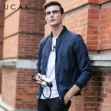UCAK Brand Plaid Free Shipping Spring Jackets Men 2020 New Arrival Casual Autumn Coats Fashion Streetwear Chaquetas Hombre U8048