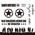 Noizzy 1 Set Band of Brothers Ho Willys Stern Auto Auto Vinyl Reflektierende Aufkleber Aufkleber Ganzen Körper Kit für Jeep wrangler Cherokee