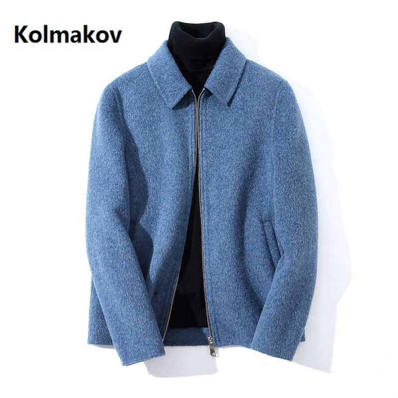 2020 Winter coat Men's Albaca double-faced cashmere trench coat Men's casual windbreaker 100% woolen coats men overcoat