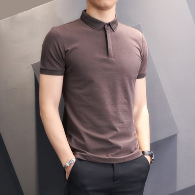 Short-sleeved Men's T-shirt Casual Breathable Half-sleeved Top  2367