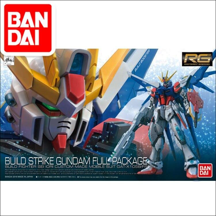 Original Gundam RG 1/144 Model BUILD STRIKE GUNDAM FULL PACKAGE Mobile Suit Kids Toys