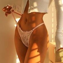 Vdogrir mulheres sexy rendas calcinha corda transparente oco para fora calcinha tanga sexo cintura baixa sem costura cuecas lingerie