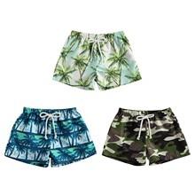 Swimwear Shorts Toddler Baby-Boy Camouflage/palm-Tree Beach-Bottoms Summer New Kid Print