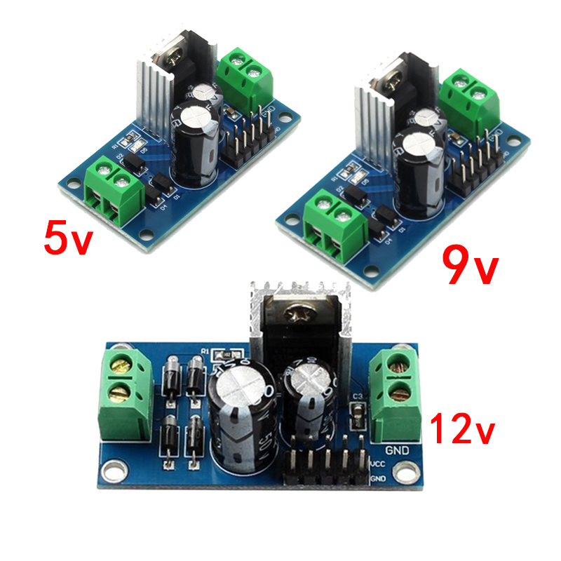LM7805 LM7809 LM7812 DC/AC Three Terminal Voltage Regulator Power Supply Module 5V 9V 12V Output Max 1.2A
