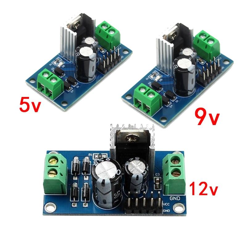 LM7805 LM7809 LM7812 DC/AC три клеммы регулятор напряжения блок питания 5 в 9 в 12 В выход макс. 1,2 А