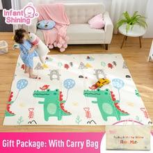Infant Glänzende Baby Matte Spielen Matte für Kinder 180*200*1,5 cm Playmat Dicker Größere Kinder Teppich Weichen baby Teppiche Krabbeln Fußmatten