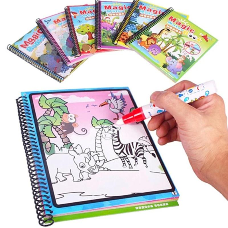 Coloring Book Doodle & Magic Pen Painting Magic Water Drawing Board Kids Toys Birthday Gift Coloring Books For Kids