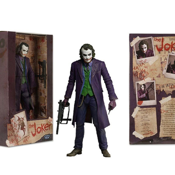 In Stock  7'' NECA Batman The Dark Knight The Joker Heath Ledger Figure Toys Model for Children injustice gods among us the joker suicide squad shf s h figuarts the dark knight joker cartoon pvc action figure toy