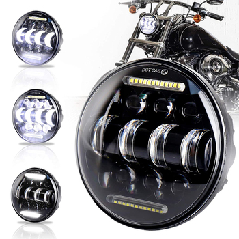 5.75 Led Lamp Motorcycle Hi&Lo DRL Headlight For Harley Dyna XG XR XL 883 1200 Touring Softail Sportster VRod VRSCD VRSCDX E 1pcs x chrome led headlight for harley davidson v rod vrod headlight vrsc v rod led headlight motorcycle aluminum headlight