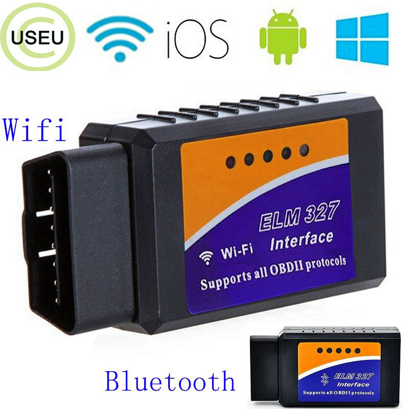 USEU Auto <font><b>ELM327</b></font> V1.5 WIFI OBDII Scan Tool Foseal Scanner Adapter Check Engine Licht Diagnose-Tool für <font><b>iOS</b></font> & Android image