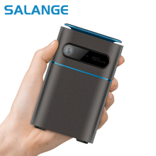 Salange P22 Mini Projector 4K DLP Android Projetor Full HD Real 3D with Battery, Keystone WiFi LED Smart Proyector Bluetooth