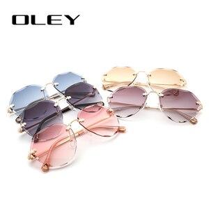 Женские солнцезащитные очки OLEY, классические многоугольные очки в стиле ретро с защитой от УФ-лучей, подходят для различных мест, Y6480