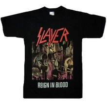 WOW Official Slayer Raign IN BLOOD Hardcore Rock Star Heavy Metal T-Shirt Size L(China)