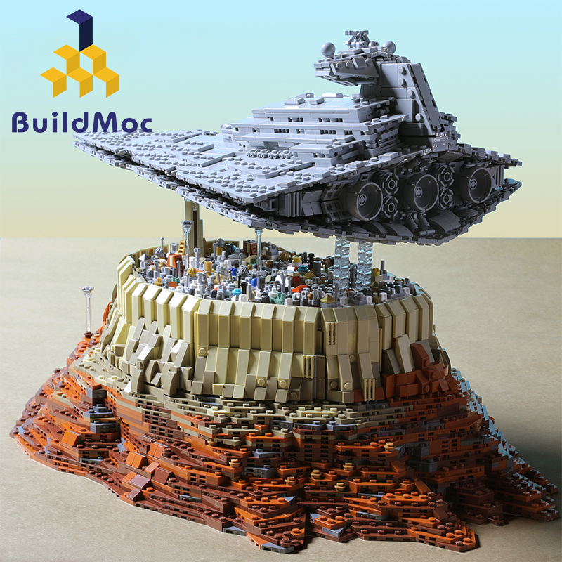 BuildMoc New Star Cruise Ship Wars The Empire Over Jedha City MOC 5000 Pcs Building Block Toy For Christmas Gift