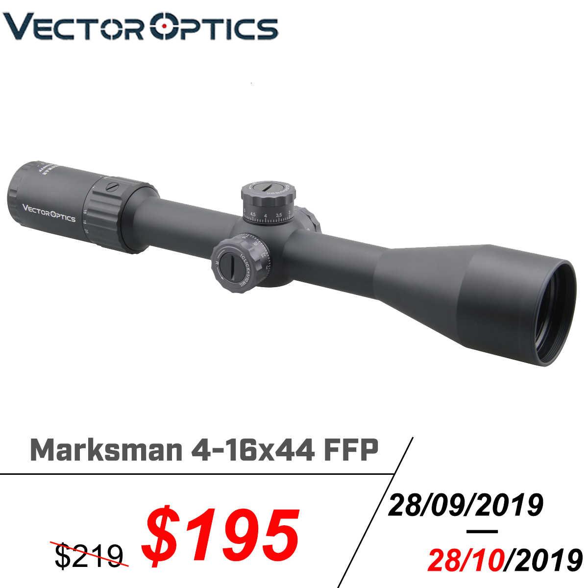 مكافحة ناقلات البصريات الرماة 4-16x44 FFP التكتيكية بندقية نطاق 1/10 ميل المستوى البؤري الأول قناص الصيد Riflescope صدمة برهان. 338