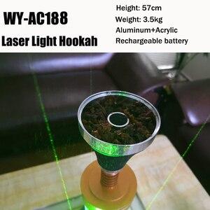 Chicha полная аккумуляторная батарея кальян с лазерным светом Provost стеклянная труба наргиле Кальян Аксессуары Рождество