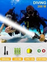 IP8 potężna latarka do nurkowania XHP90.2 najwyższa wodoodporna profesjonalne światło do nurkowania XHP90 LED latarka podwodna lanterna