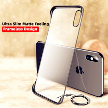 Frameloze Transparante Matte Hard Telefoon Geval Voor Voor iPhone 6 6S 7 8 Plus Cover XS Max XR 11 pro Max Met Vinger Ring Houder Case(China)