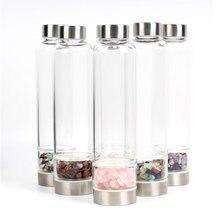 Натуральный драгоценный камень бутылка для воды с натуральными