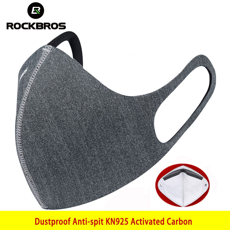 ROCKBROS KN95 Dust Mask Cycling Face Mask Filter Windproof Breathable Protection Mask Anti-fog Running Sports Dust-proof Masks