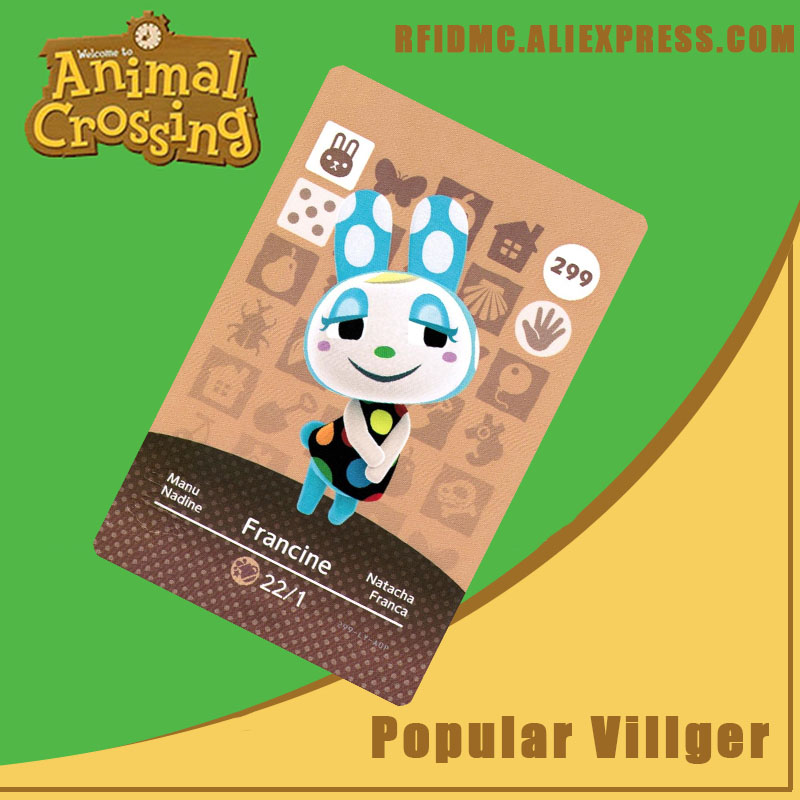 299 Francine Animal Crossing Card Amiibo For New Horizons
