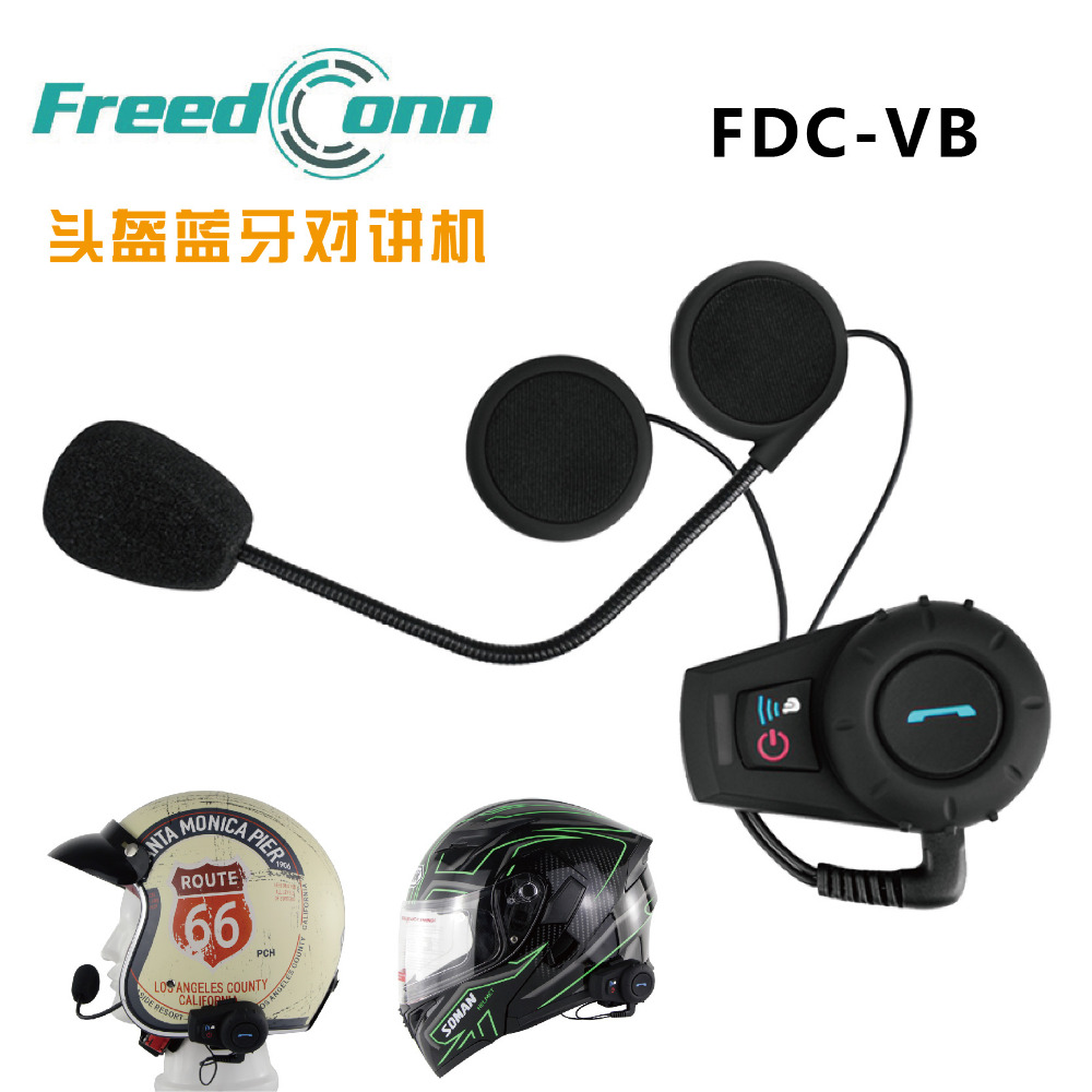 500m BT Motorycle Intercom Helmet Headset With FM Radio Function Bluetooth Intercoms FDC-VB