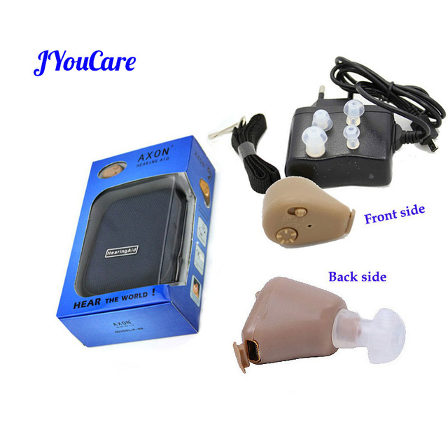 jyoucare Hearing Ear Aid Rechargeable Convenient Adjustable Mini Hearing Aids Invisible Hear the Elderly Deaf Ear care tools