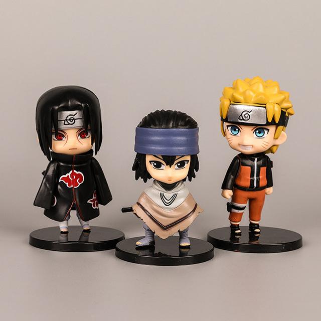 6pcs/set Anime Naruto Figure Toys PVC Model Action Figures Sasuke Kakashi Sakura Gaara Itachi Obito Madara Collectible Toys Gift