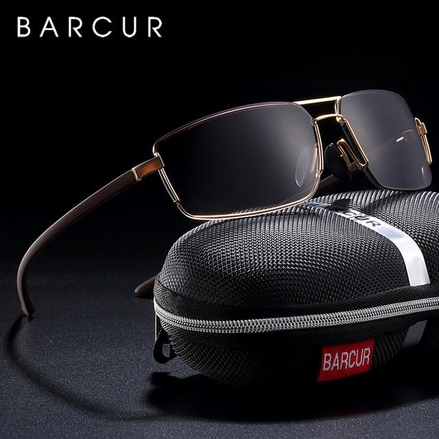 Barcur cutom óculos de sol homem condução máscaras masculino óculos de sol para homem