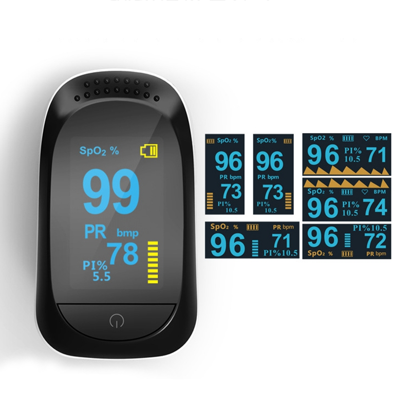 Finger Pulse Oximeter OLED SPO2 PR PI ODI Sleep Monitor 8 Hours Of Data Storage And Data Analysis Capabilities
