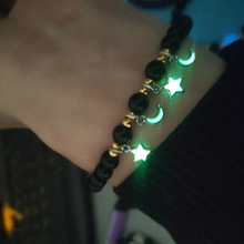 Luminous Pentagram Natural Volcanic Stone Bracelets Men Women Glowing In The Dark Jewelry Classic Accesory