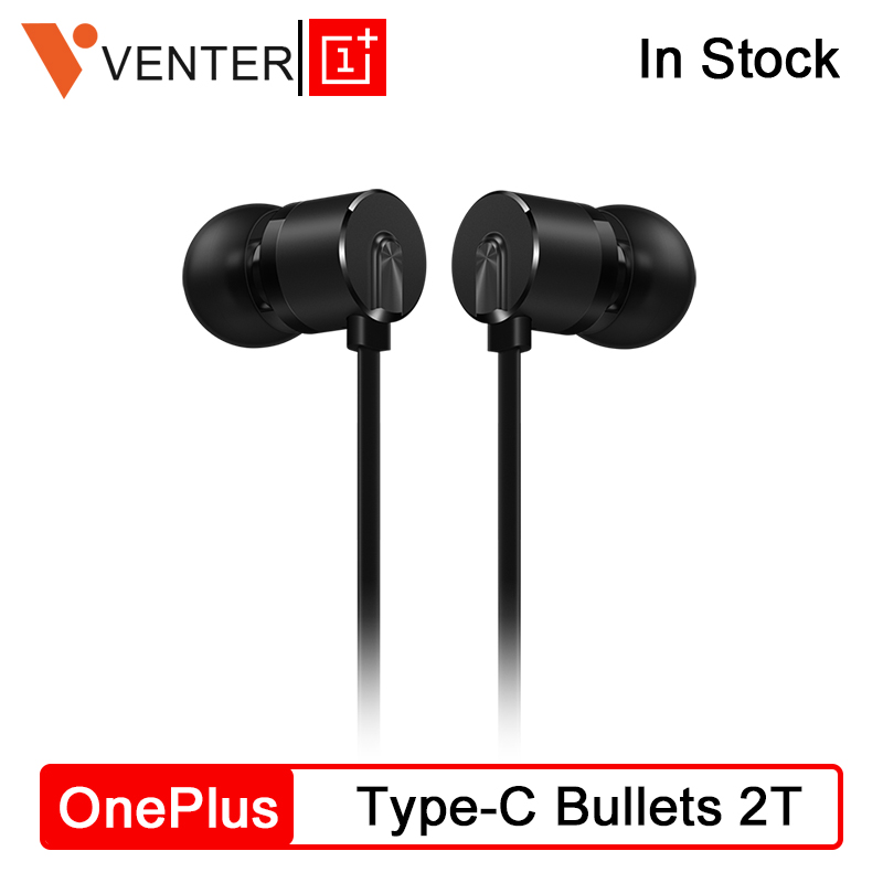 Original OnePlus Type-C Bullets Earphone 2T Bullets Wireless 2 In Ear Dynamic Drive Units 1.15 M For Oneplus 7 Pro Built-in DAC