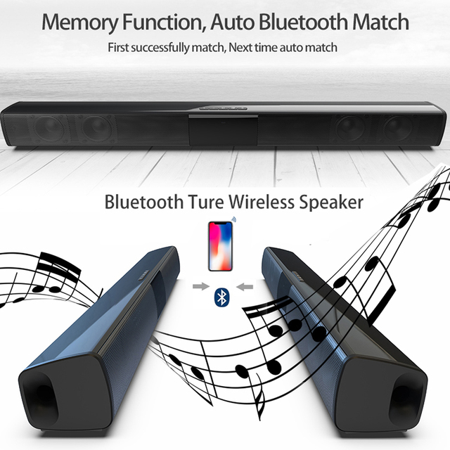 Home theater HIFI Portable Wireless Bluetooth Speakers column Stereo Bass Sound bar FM Radio USB Subwoofer for Computer TV Phone 4