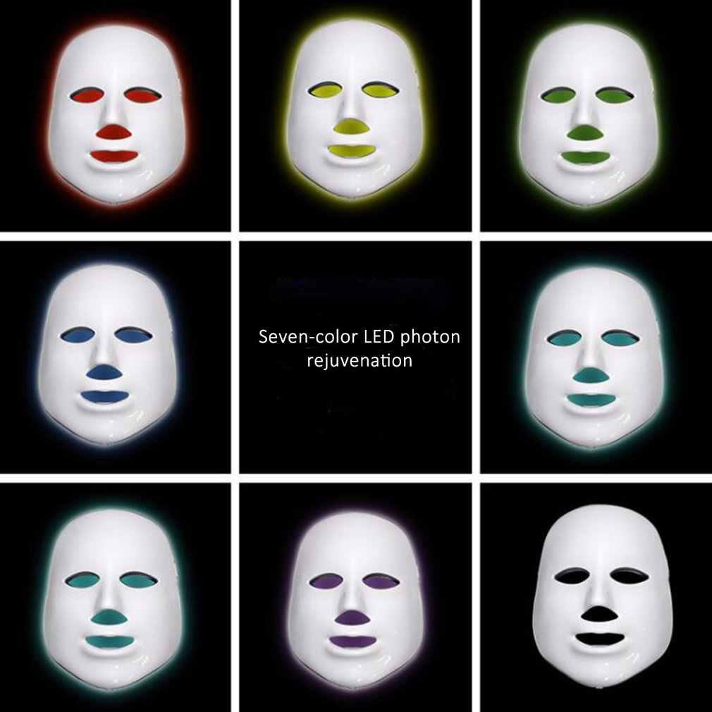 7 Màu Đèn LED Photon Làm Đẹp Mặt Nạ Nhạc Cụ Photon Trẻ Hóa Nhạc Cụ Sạc Phổ Kế Trang Thiết Bị Làm Đẹp