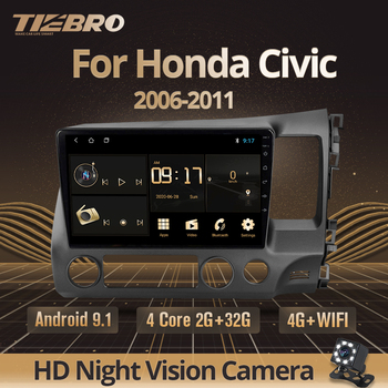 TIEBRO 2Din Android 9.0 Car Radio Multimedia Player For Honda Civic 2006-2011 Navigation GPS Dvd Player Head Unit Autoradio image