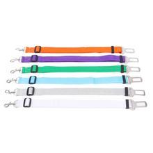 Seat-Belt Dog-Harness Adjustable Fashion Pet-Dog Length Lead-Clip Car Polyester-Fiber
