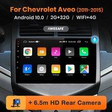 Awesafe px9 para chevrolet aveo 2 sonic 2011 - 2015 rádio do carro reprodutor de vídeo multimídia navegação gps nenhum 2 din 2din dvd android 10