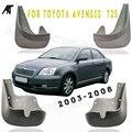Черные передние и задние черные передние и задние 4 шт. стилизированные передние и задние брызговики от грязи щитки от грязи для toyota Avensis T25 ...
