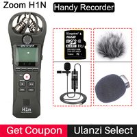 ZOOM H1N Handy Recorder Digital Camera Audio Recorder Interview Recording Stereo Microphone for DSLR Boya BY M1 Microphone