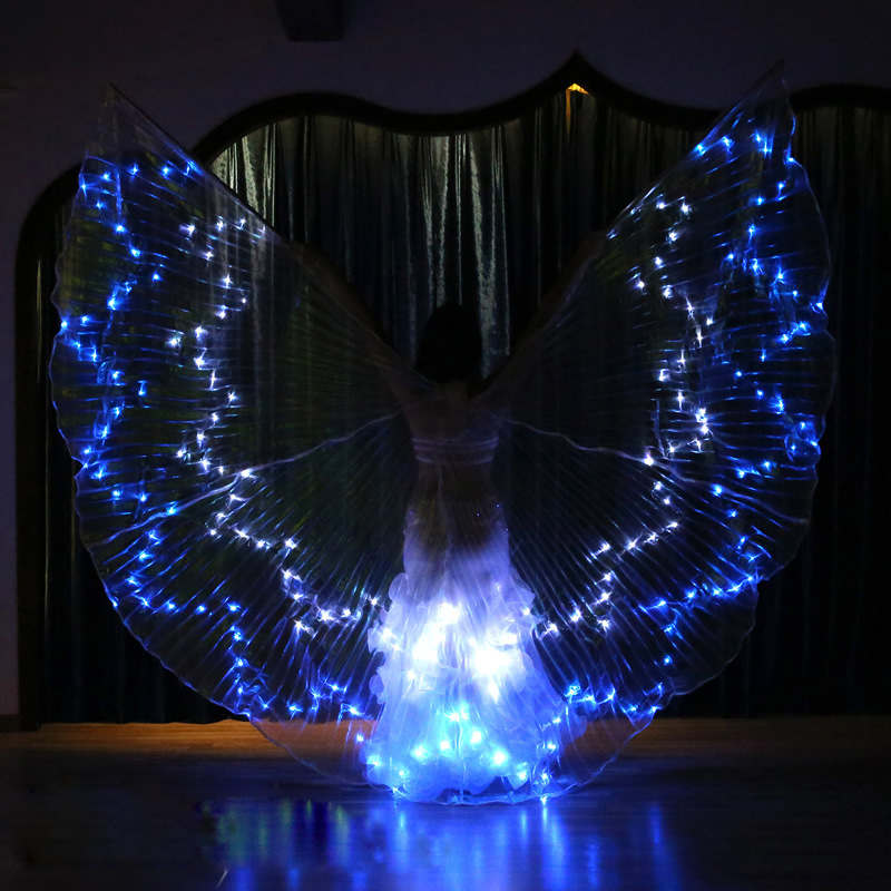 Super LED ISIS WINGS 36 colors optional changeable Performance Dancewear Belly