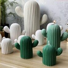 3D meat cactus plant plaster mold home decoration decorative candles Succulent Candle forms simulator