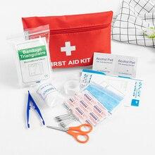 Gorąca sprzedaż 12 rodzajów zestaw pierwszej pomocy Mini rodziny apteczka Sport zestaw podróżny domu torba medyczna samochód apteczka