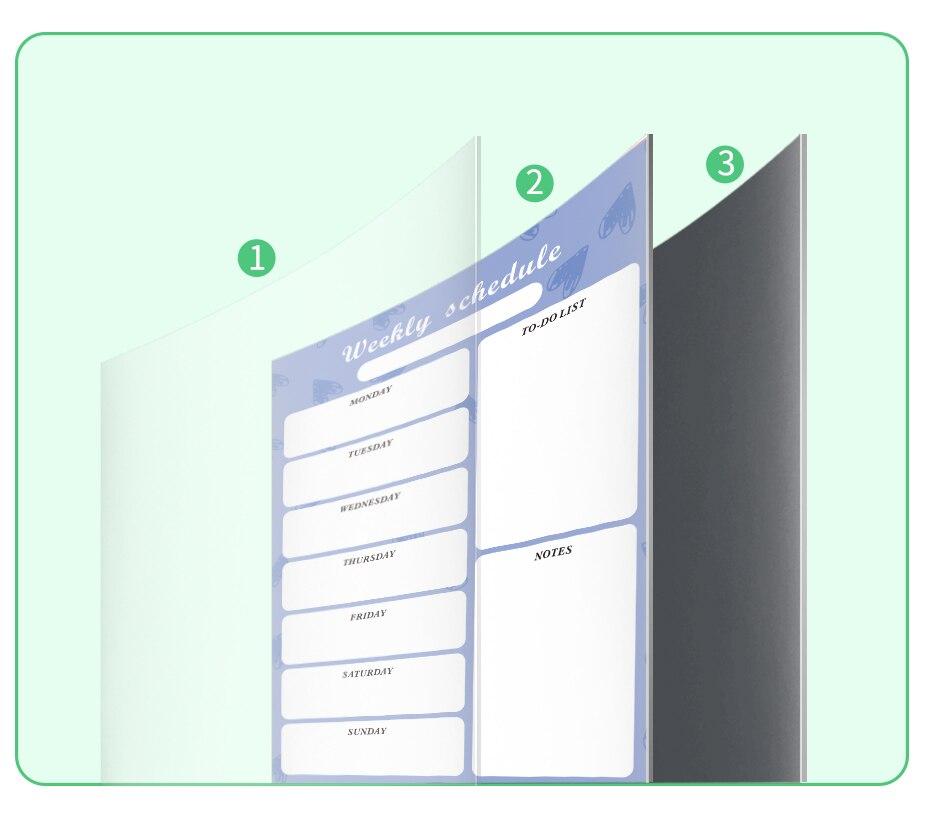 Calendário magnético agenda planejador diário quadro branco