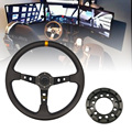 Алюминий 24 отверстие адаптер для Logitech G25 G27 рулевого колеса Набор модификаций 70 мм руль гоночной игры пластина Комплектующие для самостояте...