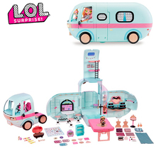 L.O.L SURPRISE ! LOL Surprise toys set lol Dolls DIY 2-in-1 Bus Toy Lol Doll Play House Games Toys for lol Birthday Gifts настольная игра lol 98234 lol