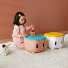 Storage Stool Bench Plastic Shoe-Changing Children's Cartoon Toy Rubber Non-Slip Thickened